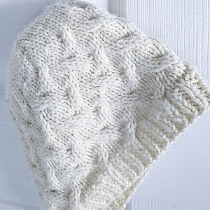"""Anthro Style Knit Toque, Neutral Creamy White, XS - 19"""" Circumference"""